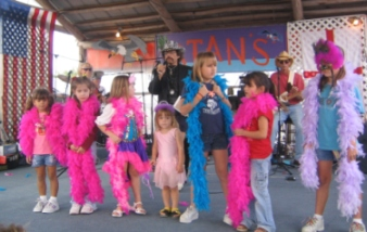 A past Mullet Princess contest.  Photo by Jeane Brennan.