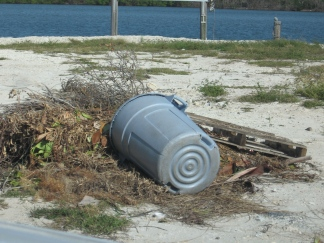 Illegal dumping on a vacant lot. (Photo by Eric Wardle)
