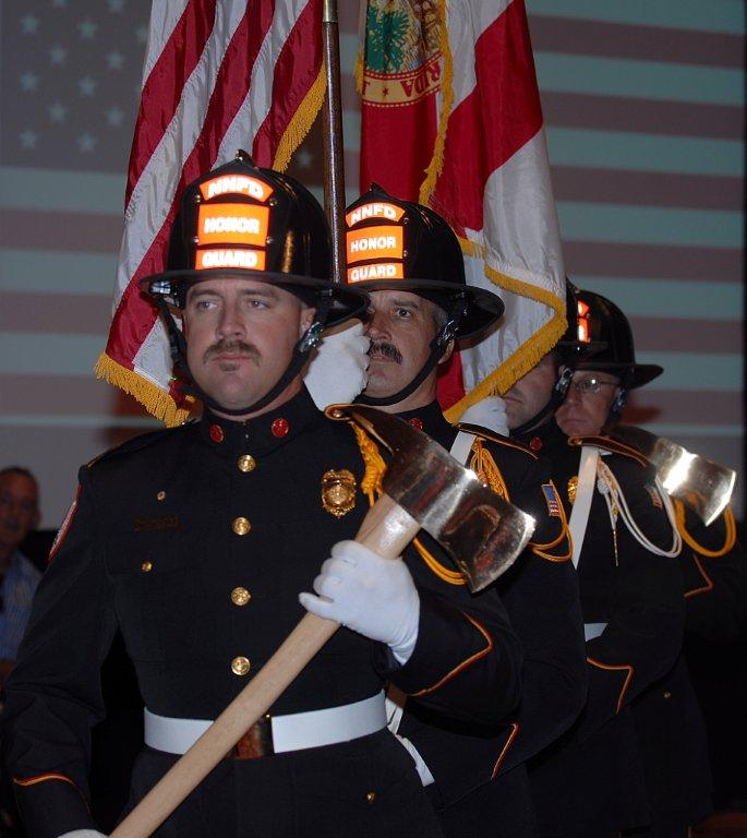 Marco Island Firefighters process in to Remembrance Luncheon, Sept. 10.