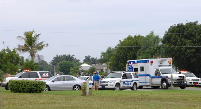 Marco Emergency responders rush to the scene of a motorcycle accident on Thursday, October 14.