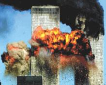 WTC burning.