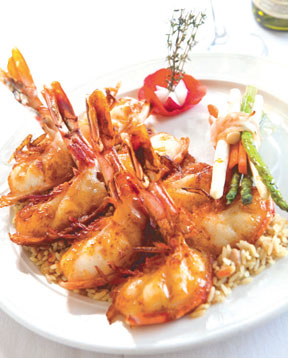 Jumbo Prawns, one of their specialties.