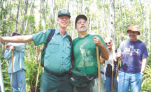 Mike Owen and John Kalafarski leading swamp walks.
