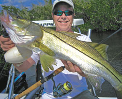 Scott Newsome with Snook.