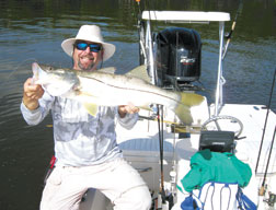 Capt. Pete Rapps with a Snook.