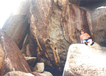 Eric, our son, resting among the boulders at the Baths. SUBMITTED PHOTOS