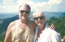 Herman and me (overlooking Tortola).