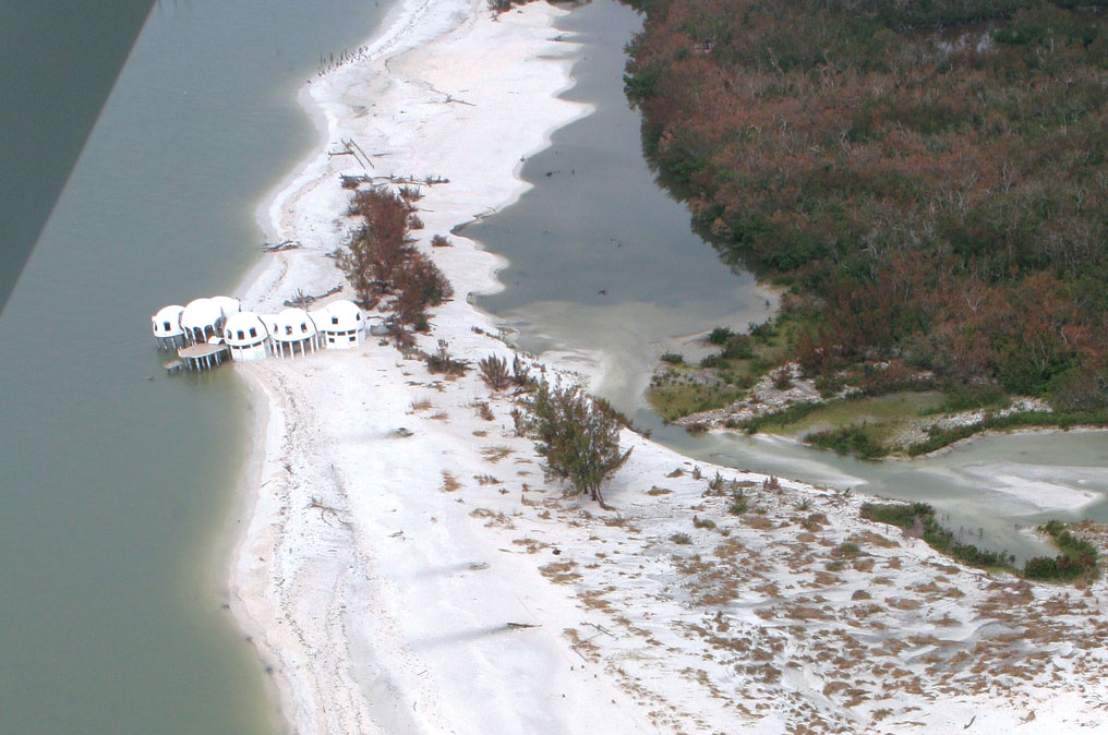 An aerial view from 2005, not long after Hurricane Wilma. Photo courtesy of Rookery Bay