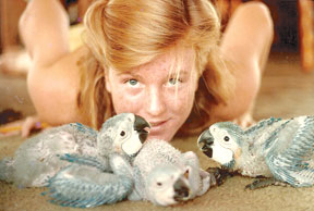 Heather spent her teens on Morgan Beach, boating back and forth to school and raising exotic birds.