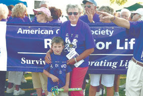 Judy Mayo and Bryce Ehlen, pictured five years ago, as cancer survivors at a Relay for Life event. SUBMITTED PHOTOS