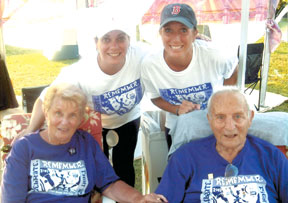 Judy and Coach (Joe) Mayo with daughters (from back left) Melissa Williams and Angela Piatelli.This photo was taken shortly after Coach was diagnosed with cancer and just prior to Judy's diagnosis.