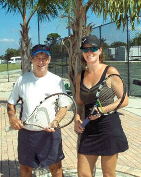 Winners of YMCA Summer Swing, Andrea Washak & Roger Boissee.