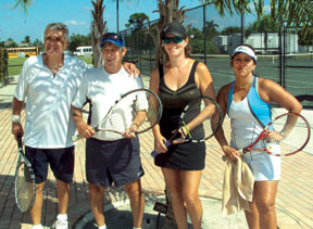 Runners Up, Outside left and right: Roger Boissee and Milly Martin pictured with the Champions Center, Peter Piro & Andrea Washak. SUBMITTED PHOTOS
