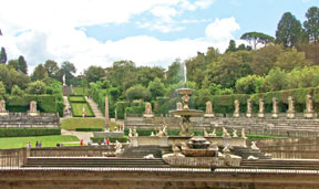 The serenity of the Boboli Gardens is very inviting.