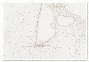 Nautical Chart of 1893 showing the Cape Romano Astronomical Station established 1886. SUBMITTED PHOTO