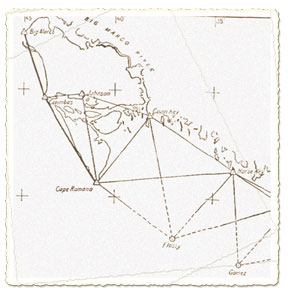 A portion of the Triangulation Map of the Astronomical Stations printed in 1913. SUBMITTED PHOTO