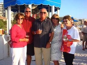 Linda and Ken Whitehead, Duane and July Larock and Ann DeBerardinis