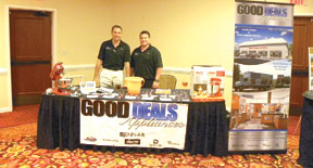 The guys at Good Deals Appliances brought plenty of goodies.