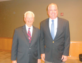 Amadeo Petricca with Ken Honecker who was named the new Council Vice Chair.
