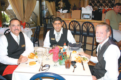 Michael Miller, Martin Rodriguez and Johnny Austin of Naples Transportation were also treated to a meal.
