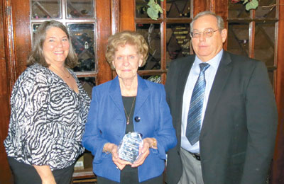 Charlotte Husted, Mary Lou Condee and Don Condee, Jr. were recognized for their family owned business.