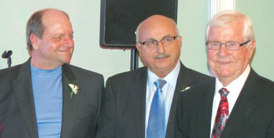 Pat Neale, Tarik Ayasun and Dick Shanahan.SUBMITTED PHOTOS