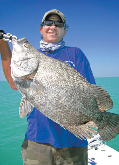 Lou Clementi with a Tripletail caught withCapt Rapps.