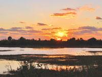Celeste Navara's 2013 calendars ofGoodland feature beautiful photos such as this shot of sunset on Goodland. Photo by Celeste Navara