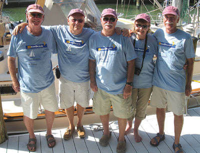 Crew from left to right: Alan Picard, LeeHenderson, Ken Bardon (Owner/Captain), Nancy De Vries, Mike Cain. SUBMITTED PHOTO
