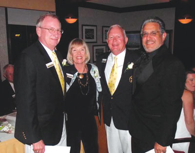 Left to right: Gary Riss 2013 Chairman of the Board, Vicki Bretthauer 2012 Chairman of the Board, Dick Irwin Rear Commodore, Tony Balsamo Member Advisor to the Board.