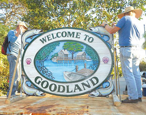 The Goodland sign AFTER