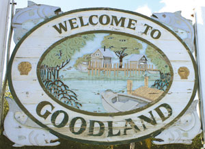 The Goodland sign BEFORE
