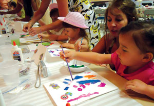 Kids will have a chance to make homemade crafts with the beloved women in their life.