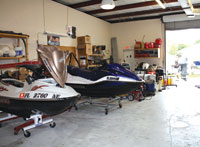 A 3,000 sq ft work space gives both JD Fiberglass and Felix Marine a large area to work on multiple and myriad water crafts.