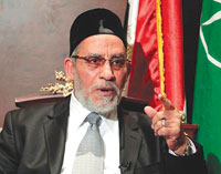 Egyptian leader of the Muslim Brotherhood.