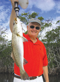 Lee with a nice Trout. PHOTOS BY CAPT PETE RAPPS