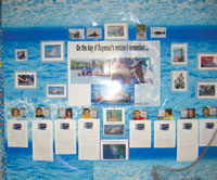 Students made a poster for the TV show describing their memories of the day Seymour was rescued. PHOTO BY SUSAN KOSKO