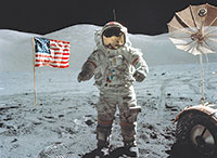 Walking on the moon. SUBMITTED PHOTOS