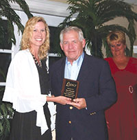 Jim O'Donnell, Unsung Hero with Jane Watt of the Marco Island Academy.