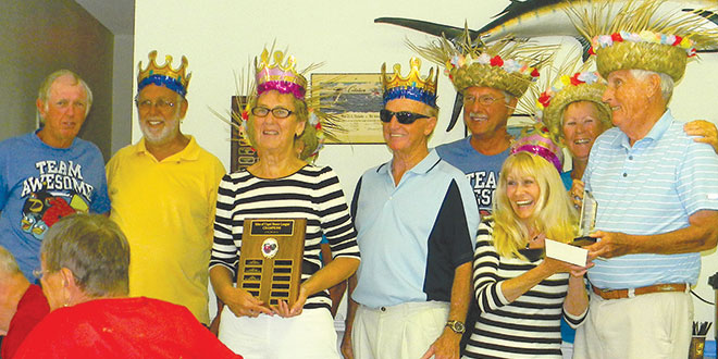 The Beach Bums handed over their crown to the Hurricanes. PHOTOS BY JOAN AND CARL KELLY