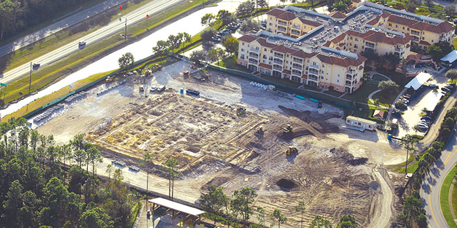 Construction has begun for Villa at Terracina Grand.  Photo by fastaerial.com