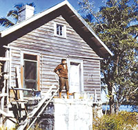 Joe Dickman at his place on Kice Island 1960s. PHOTOS BY Dave Johnson