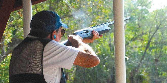 Gary Landis hits his target.