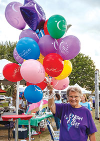Judy Mayo, valiantly continues the fight against cancer.