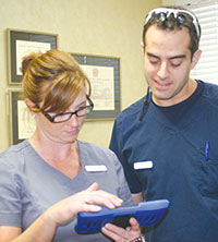Maria Lange, RN, and Dr. Daniel Wasserman.