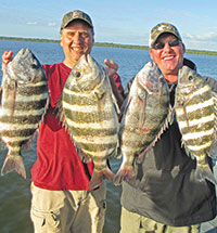 Tim and Brian with some nice Sheepshead.