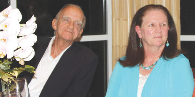Volunteer of the Year,  Cathy Nelson, with husband John. SUBMITTED PHOTO