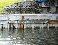 Early estimates for seawall repairs at the bridge top out at around $1 million.