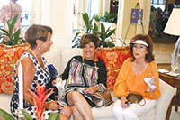 Phyllis Milano, Nan Suffian and Janet Cohen chat at the Hideaway Beach's Cancer Commitee's Luncheon