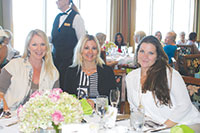 Kira Krum, Chris Sullivan and Elizabeth Hendrix enjoy a delicious lunch at Saks Fifth Avenue fashions.